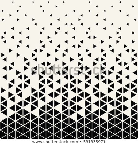 Vector seamless black and white halftone lines pattern. Abstract geometric retro background design. Stock photo © samolevsky