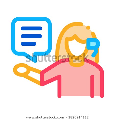 woman verbal help by phone icon vector outline illustration Stock photo © pikepicture
