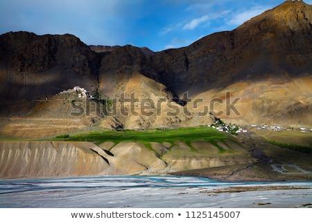 Fiume himalaya valle acqua montagna montagna Foto d'archivio © dmitry_rukhlenko