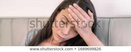 Koorts asian vrouw aanraken voorhoofd panoramisch Stockfoto © Maridav