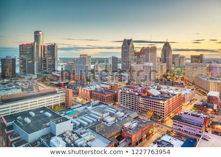 Detroit Michigan skyline nacht business Stockfoto © vladacanon