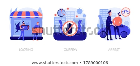 Arrest abstract concept vector illustration. Stock photo © RAStudio