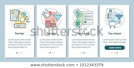 Taxation system app interface template. Stock photo © RAStudio