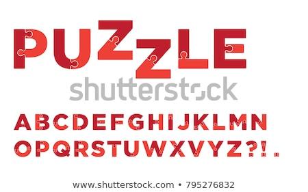 alphabet puzzle background stock photo © vladacanon
