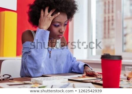 Gevoel verschrikkelijk rijpe vrouw neus Stockfoto © jsnover