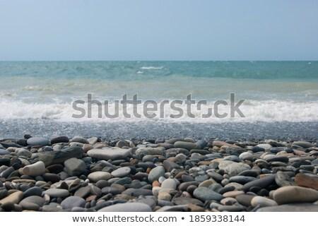 Stock foto: Kiesel · Ufer · Strand · Tag