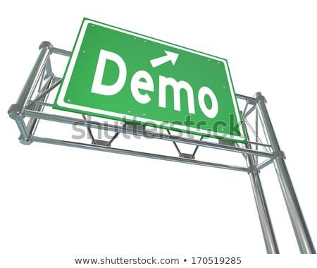 Product Demo Highway Sign stock photo © kbuntu