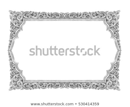 Retro Revival Old Silver Frame Stock photo © adamr