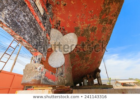 лодка пропеллер латунь белый Сток-фото © premiere