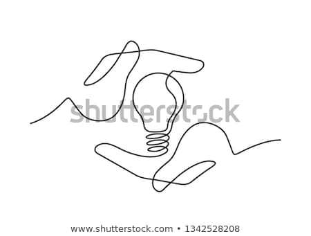 Stock Photo Businessman Drawing Idea Lamp