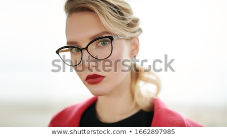 beautiful blonde in spectacles Stock photo © kozak2008