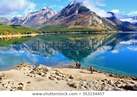 Jezioro parku Kanada niebo drzewo Zdjęcia stock © devon