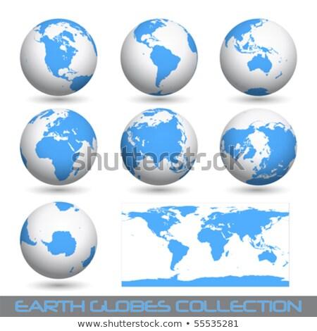 globos · dos · aislado · blanco · mundo · mar - foto stock © dacasdo
