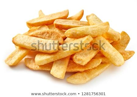 Groot gesneden aardappel vallen uit Stockfoto © mybaitshop