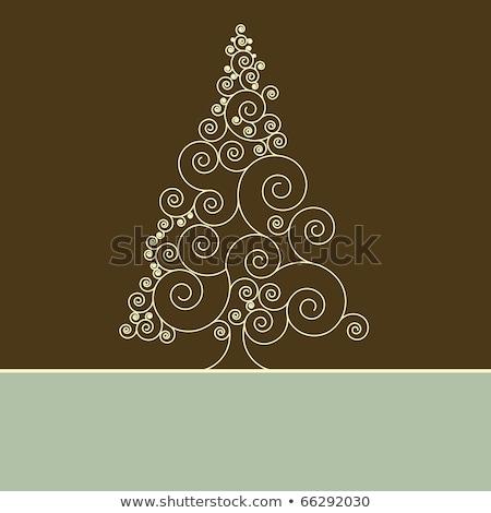 ретро · Рождества · элегантный · карт · подарок · прибыль · на · акцию - Сток-фото © beholdereye