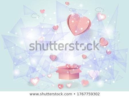 san · valentino · donna · regalo · bianco · rosso - foto d'archivio © rob_stark