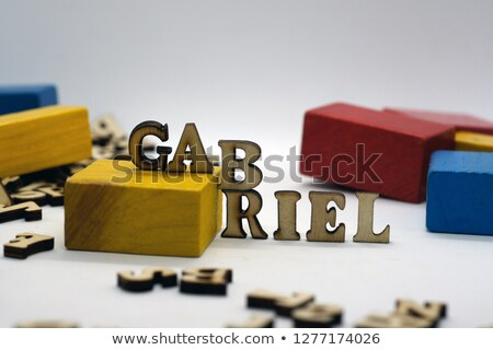 europe and flag in toy block letters stock photo © morrbyte