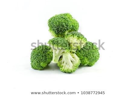 ruw · broccoli · witte · kom · groene · plantaardige - stockfoto © dehooks