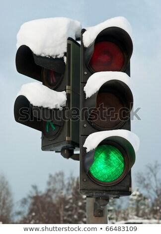 sinal · de · parada · enterrado · neve · assinar · branco · pare - foto stock © stevanovicigor
