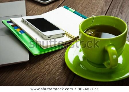 Kalem cep telefonu iş ofis telefon Stok fotoğraf © MilosBekic