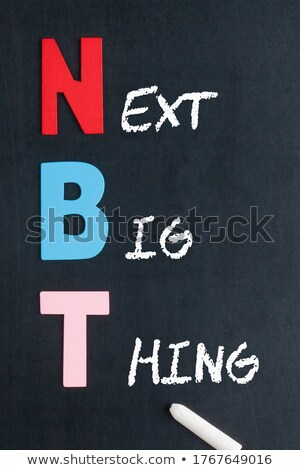 акроним следующий большой написанный мелом доске Сток-фото © bbbar