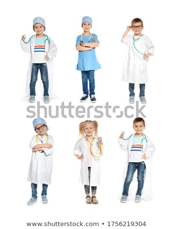 Stock photo: portrait of a little girl with costume