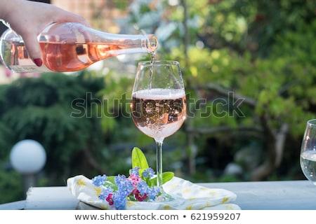 ウェイター · ボトル · バラ · ワイン · 男 · 作業 - ストックフォト © photography33