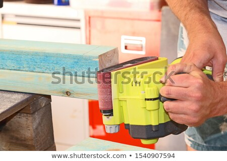 Man using power sander Stock photo © photography33