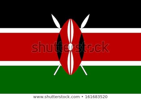 földgömb · zászló · Kenya · kék · izolált · fehér - stock fotó © creisinger