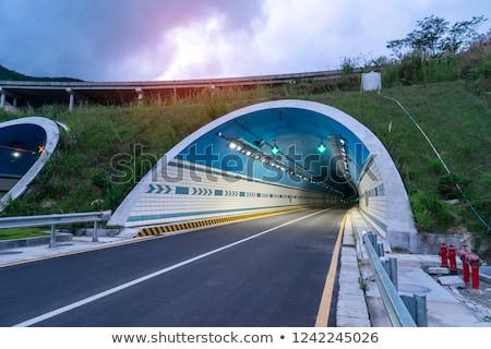 autoroute · tunnel · mouvement · voiture · route · ville - photo stock © sirylok