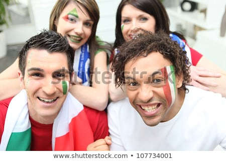 Couple supporting the Italian soccer team Stock photo © photography33
