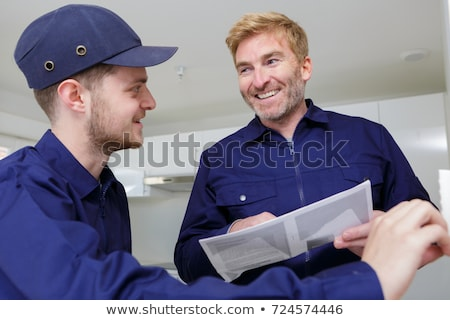 craftsman painter and apprentice working together stock photo © photography33