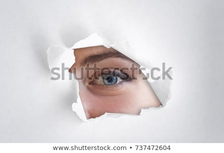 Eyeball spy Stock photo © carbouval