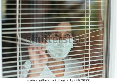 Samotny starszy kobieta starych obraz nieszczęśliwy Zdjęcia stock © silent47