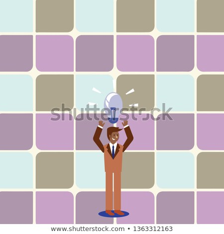 Man with tiling business promoting his services Stock photo © photography33