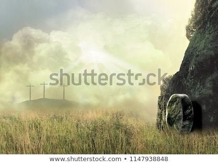 христианской · крест · свет · небе · Пасху · безопасности - Сток-фото © kenneth_keifer