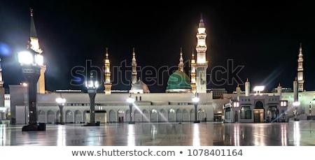 Medina Mosque at night Stock photo © zurijeta