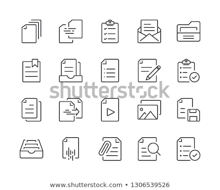 Stock fotó: Mappa · számítógép · izolált · fehér · iroda · papír