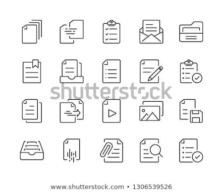 Geel · kantoor · map · opschrift · business · mail - stockfoto © tashatuvango