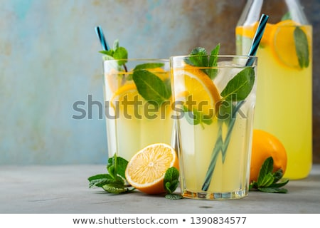 пить · Sweet · льда · стекла · фон · волна - Сток-фото © grafvision