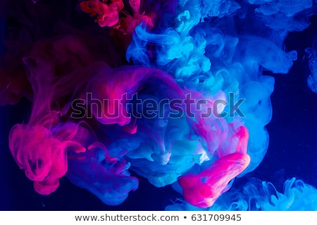 Stock photo: Smoke liquid ink in water