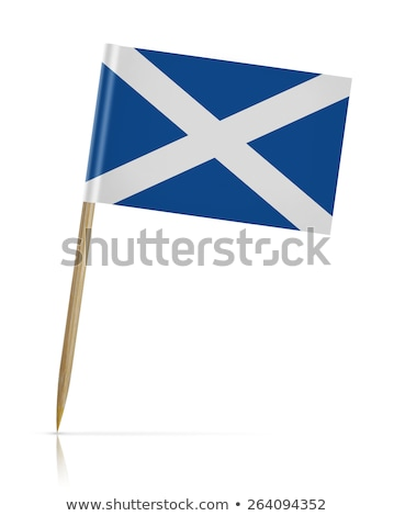 Minyatür bayrak İskoçya yalıtılmış iş Stok fotoğraf © bosphorus
