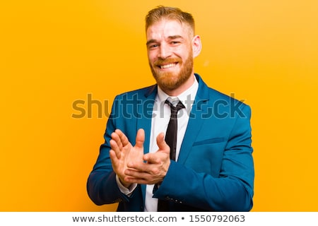 Businessman clapping Stock photo © RTimages