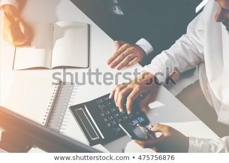 Deux affaires isolé blanche affaires Photo stock © shutswis