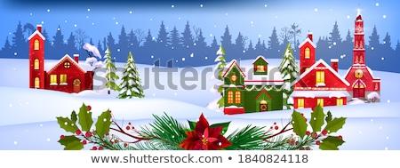 karácsony · keret · zöld · arany · szatén · kép - stock fotó © supertrooper