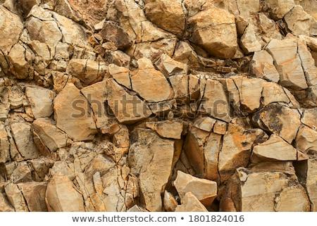 Muro di pietra full frame abstract dettaglio costruzione muro Foto d'archivio © prill