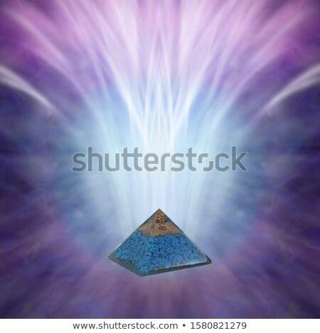 Chakra azul hombre hoja naranja océano Foto stock © mariephoto