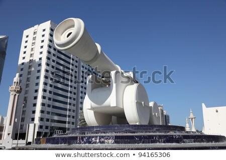 ágyú szobor Abu Dhabi street art város építkezés Stock fotó © SophieJames