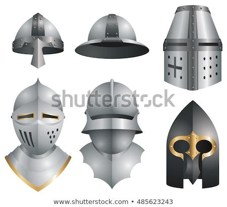 medieval warrior with helmet vector stock photo © chromaco