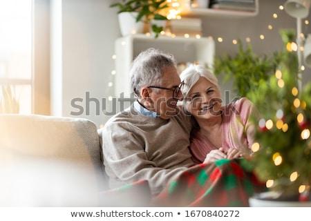 очки · шампанского · Рождества · подарок · настоящее · рождественская · елка - Сток-фото © photography33